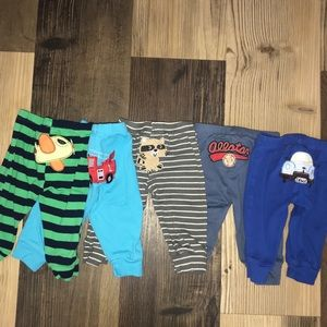 Lot of 5 character pants for baby boys